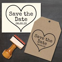 Save the Date Stamp with a heart  DIY and create your own Save the Dates! by Designkandy, $28.00