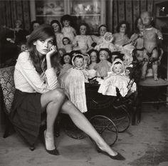 """cuty-beauty-abku: """"Jean Shrimpton by Terry O'Neill - At A Doll's Hospital, London (1964) """""""