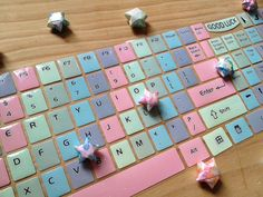Glittler Mosaic Keyboard sticker fancy computer by StickersKingdom