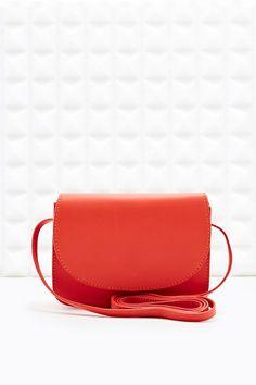 Vagabond Mini Leather Handbag in Red