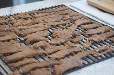 Beef Jerky on the Traeger Jerky Recipes, Traeger Recipes, Smoker Recipes, Grilling Recipes, Beef Recipes, Smoker Beef Jerky, Traeger Smoker, Simple Beef Jerky Recipe, Trager Grill