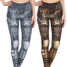 Monochromatic Steampunk Leggings, Tops or Outfits
