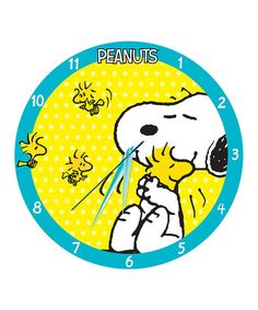Another great find on #zulily! Peanuts Snoopy & Woodstock Wall Clock #zulilyfinds