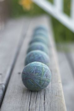 The Sitting Tree: Wool Dryer Balls