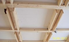 Drop ceiling coffered framework