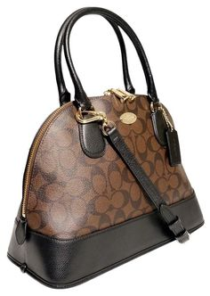 e82d966402 Coach Sale Cora Domed  Msrp  375 Black Brown Satchel. Save 37% on the