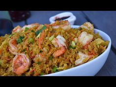 Cook My Crowd Pleasing Shrimp Fried Rice With Me! - YouTube Rice Recipes, Asian Recipes, Great Recipes, Cooking Recipes, Healthy Recipes, Chinese Recipes, Healthy Food, Favorite Recipes, Seafood Dishes
