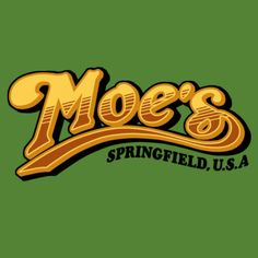 The Simpsons: Moe's Tavern / Cheers: Logo mashup t-shirt.  #simpsons #moestavern #cheers