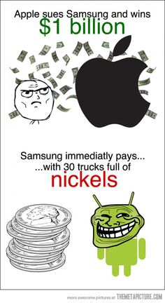 Funny pictures about Trolling Apple. Oh, and cool pics about Trolling Apple. Also, Trolling Apple. Wtf Funny, Funny Jokes, Hilarious, Crazy Funny, Troll Meme, Rage Comics, Funny Pins, Funny Stuff, Derp