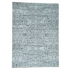 RH46457 9.02 x 12.05 - Mohr & McPherson 9.02 x 12.05 Handknotted Undyed Natural Wool Oushak