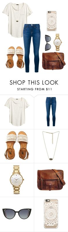 """""""They don't dare disturb the sound of silence"""" by sweatshirt-irwin ❤ liked on Polyvore featuring H&M, Frame Denim, Aéropostale, Kendra Scott, Kate Spade, Fendi and Casetify"""