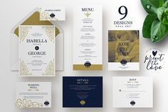 Wedding Invitation Suite - Isabella by Print The Love Boutique on @creativemarket