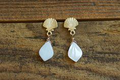 Piercing, Messing, Bling, Drop Earrings, Diamond, Jewelry, Summer, Fashion, Clams