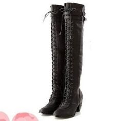 European and American style fashion knee boots for women SY-C1277 black
