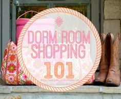 Dorm Room Shopping 101: Important things to buy and the best place to shop. http://simplesouthernbelle.net