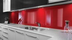 Media | Lustrolite This stuff is incredible! Amazing glass-like acrylic, scratch resistant, AND YOU CAN CUT AND INSTALL YOURSELF! Get a luxurious and modern look at a VERY reasonable price. We will for sure be using this when we remodel.
