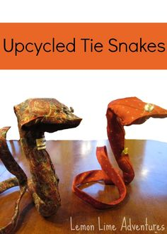 Upcycled Tie Snakes: Simple and Easy craft.