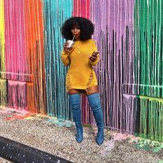 It's Always Shot Clock Season . Curvy Girl Outfits, Curvy Girl Fashion, Black Women Fashion, Plus Size Outfits, Womens Fashion, Fashion Edgy, Fall Fashion Outfits, Dope Outfits, Fall Winter Outfits