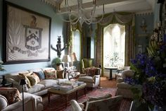 Full to the brim with antiques, art, striking paint colors, and charm for days—take a peek inside the dramatic Cotswolds cottage (and one-time schoolhouse) of designer William Yeoward.
