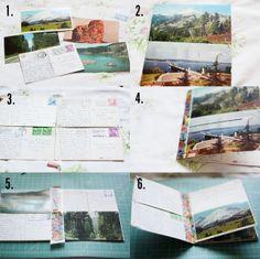 #diy Vintage Postcard Travel Journal
