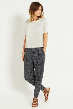 We adore these Art Studio Trousers - don't you think a couple of paint splotches would add to them a little?