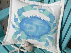 Hawaiian crab 20 Splendid Pebble Crab blue aqua by crabbychris, $38.00