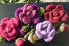 fiori di lana cardata