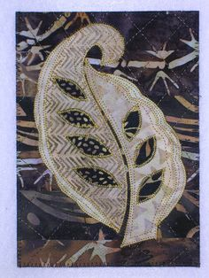 leaf quilted art quilt