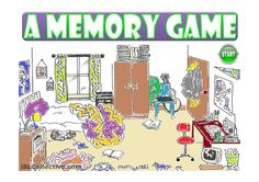 A MESSY ROOM - a memory game (prepositions)