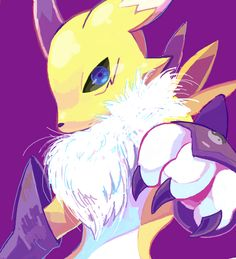 Renamon. Favourite digimon ever. You know, and Kyubimon. Love me kyubimon.