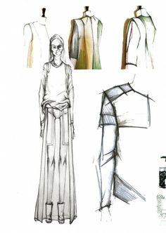 Croquis de mode mode g om trique and carnets dessins on for Chambre syndicale de la couture parisienne