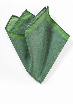 Kavaliertuch große Punkte giftgrün dunkelgrün