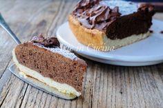 Torta al cioccolato veloce con pasta frolla senza robot, dolce semplice, torta perfetta per colazione, merenda, dolce velocissimo, con nutella, ricetta sfiziosa