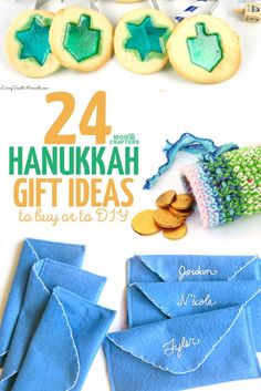 Looking for the perfect Chanukah gift? These Hanukkah gift ideas include some to DIY and some to buy - there's a gift for the holidays for everyone! ideas to buy Hanukkah gift ideas to DIY or to buy Hanukkah Crafts, Jewish Crafts, Hanukkah Food, Feliz Hanukkah, Hanukkah Decorations, Christmas Hanukkah, Hannukah, Hanukkah Recipes, Christmas Tea