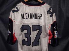 RARE Seattle Seahawks Shaun Alexander #37 Super Bowl 40/XL Men's Jersey Size L…