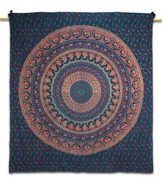 Home Decor Blue Cotton Indian Tapestry Wall Tapestry India Bohemian Tapestries Hanmade Clothing Bedspread Mandala Pattern TP660