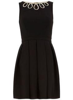 classic pleated black dress via Dorothy Perkins.