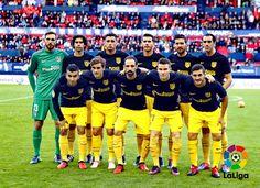 EQUIPOS DE FÚTBOL: ATLÉTICO DE MADRID contra Osasuna 27/11/2016