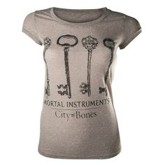 Camiseta chica Cazadores de sombras. Llaves