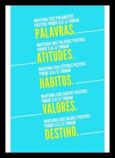 Quadro Poster Frase Mantenha seus pensamentos positivos