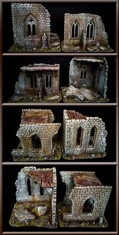 The Internet's largest gallery of painted miniatures, with a large repository of how-to articles on miniature painting Game Terrain, 40k Terrain, Wargaming Terrain, Halloween Diorama, Halloween Village, Christmas Village Display, Christmas Nativity Scene, Model Castle, Dungeons And Dragons Miniatures