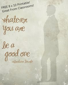 free printable : abraham lincoln quote for presidents day
