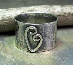 Artisan Sterling Silver Ring - Sweetheart