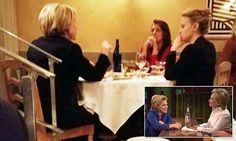 Hillary Clinton joins Kate McKinnon for dinner | Daily Mail Online