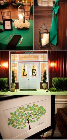 #emerald #wedding Magnolia Wedding by Sharon Nicole Photography | Style Me Pretty