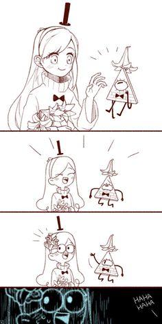 Comic by Kang0-0a (Tumblr)!!- gravity falls Mabel and Bill comic. Funny