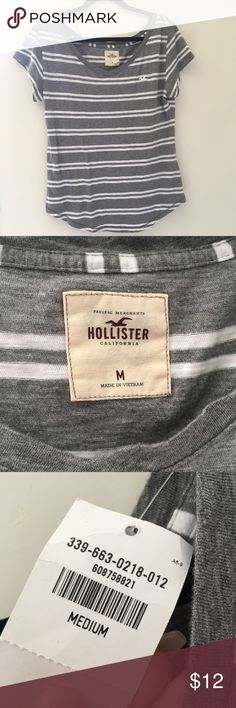 NWT Hollister Top NWT. Has a boat neck Hollister Tops Tees - Short Sleeve
