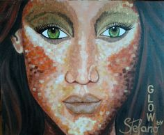 Glow by:STEFANO acrylic on canvas fashion art Tyra Banks, Fashion Face, Acrylic Colors, Portrait, Glow, Painting, Canvas, Art, Model