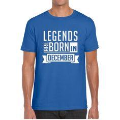 LEGENDS ARE BORN IN DECEMBER (UNISEX TEES)