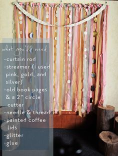 Great way to hang a Photo Backdrop. Attach backdrop to curtain rod hang it on the wall with hooks. Glitter Backdrop, Diy Photo Backdrop, Diy Photo Booth, Streamer Backdrop, Backdrop Ideas, Photo Booths, Photo Booth Background, Background Diy, Diy Streamer Decorations